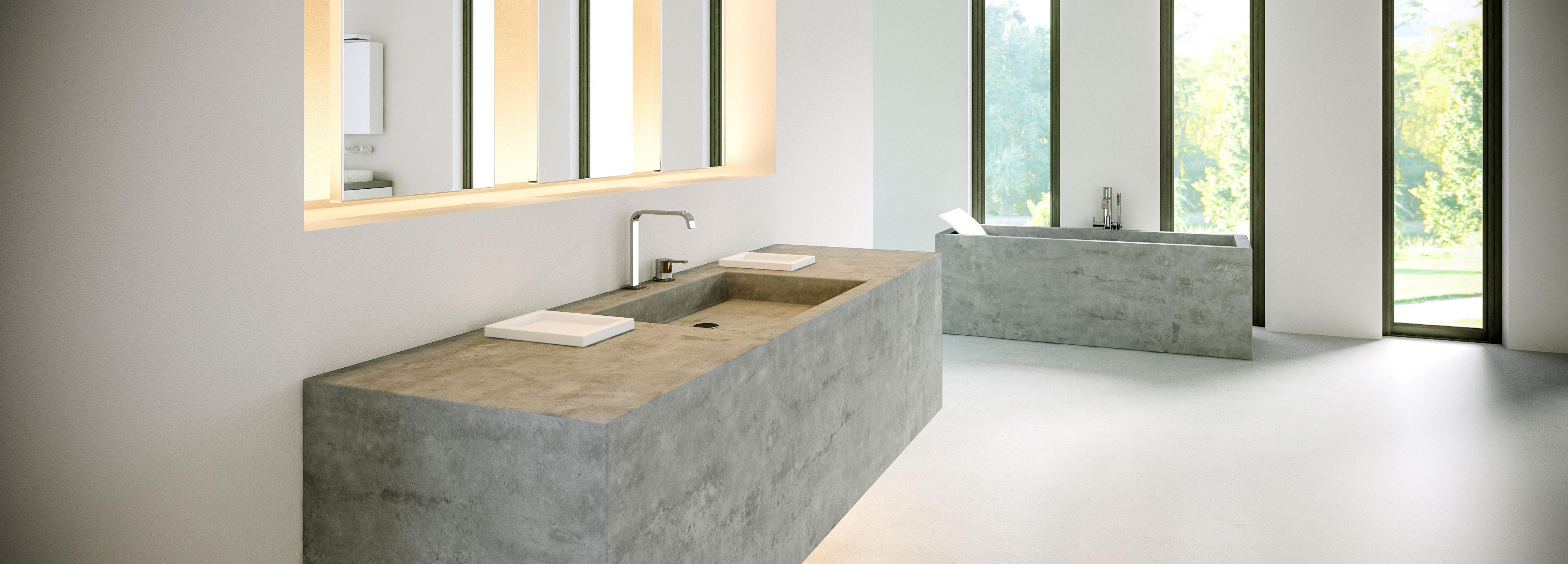 Concrete Bathroom Sinks | Polishing Concrete | Polished Concrete Floors