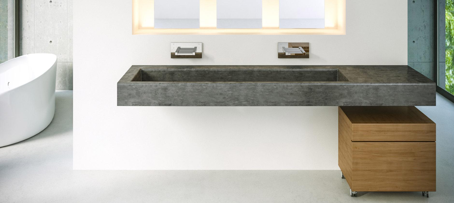 Concrete Vanity Units